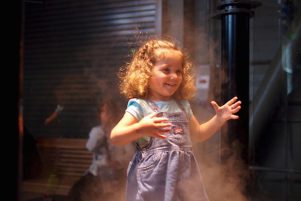 Check out the fog tunnel if you're at the Exploratorium with a 3YO