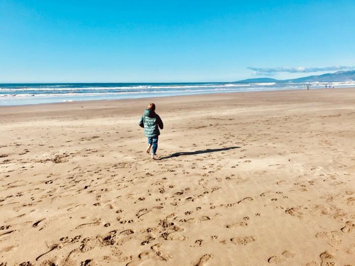 Running at Ocean Beach