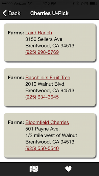 Use the Brentwood Harvest Time app before you show up