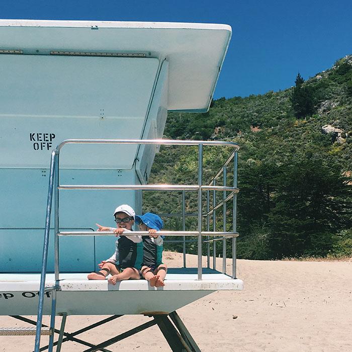 Stinson Beach lifeguard stand