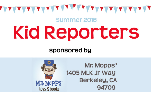 Kid reporters 2016 was sponsored by Mr. Mopps toys and books
