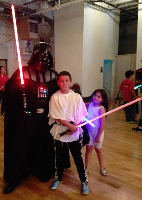 Golden Gate Knights Star Wars lightsaber training
