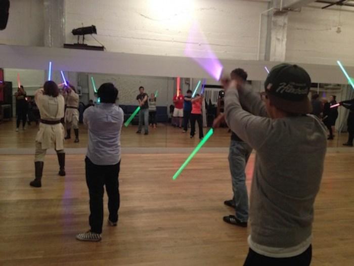 Golden Gate Knights Star Wars lightsaber training: fun date
