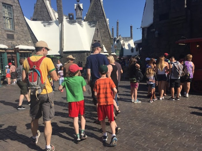 Wandering through Hogsmeade Village at the Wizarding World of Harry Potter
