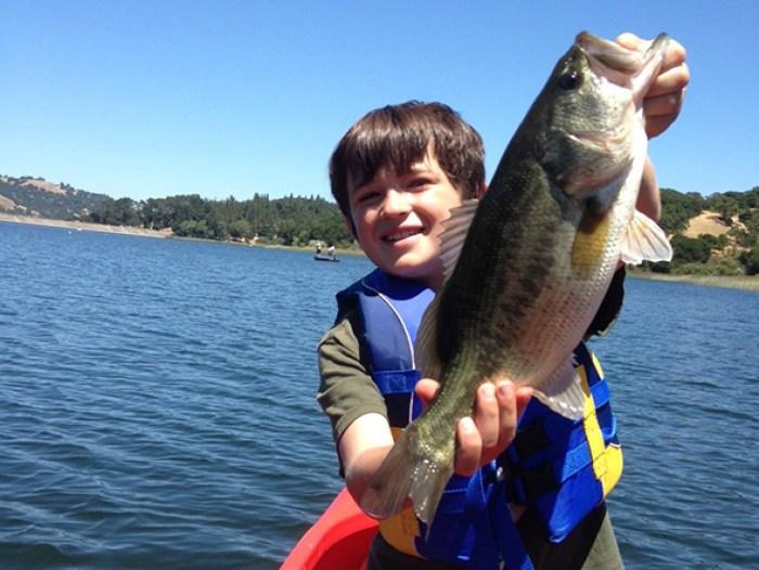 kid Catching fish at San Pablo Reservoir