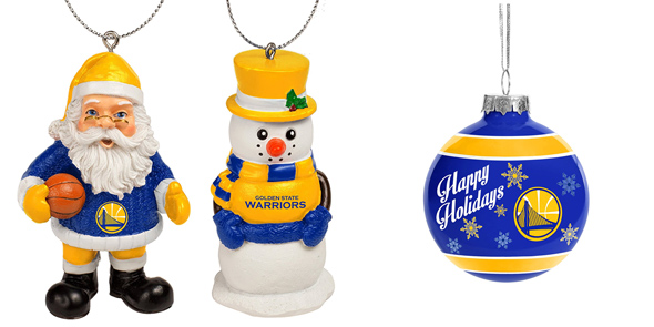 Warriors ornaments for holiday gifts
