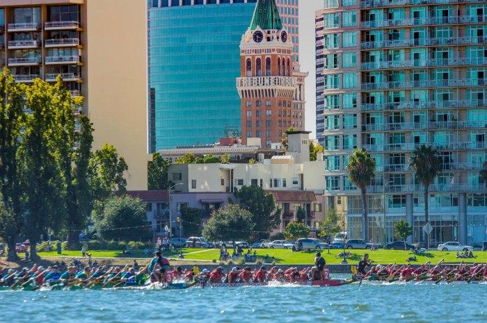 Dragon boats in Oakland