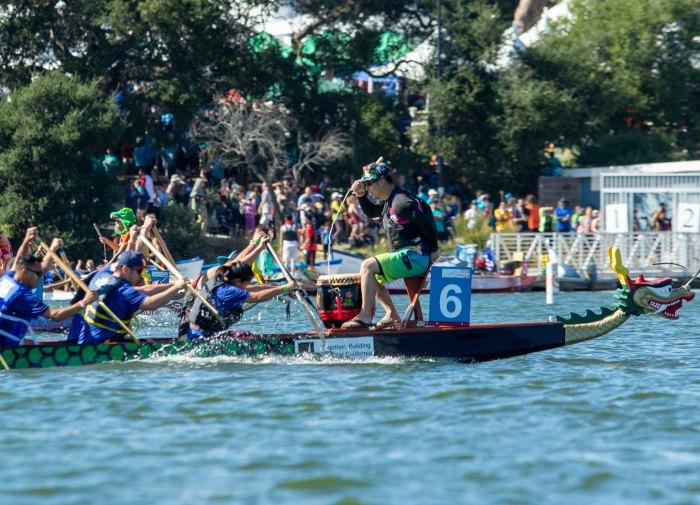 Dragon boats on Lake Merritt!