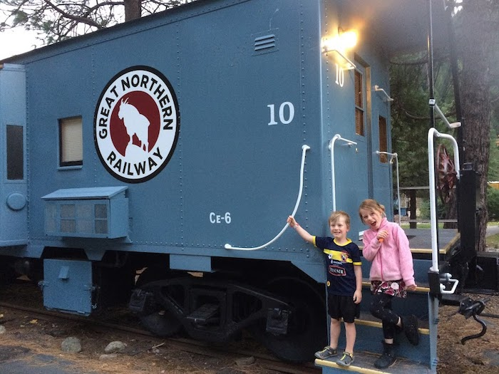 Stay in a caboose like this at Railroad RV Park