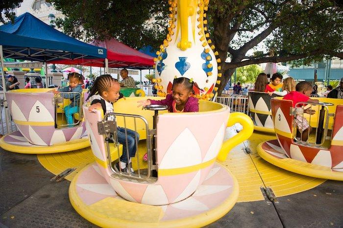 art + soul Oakland kids zone includes carnival rides