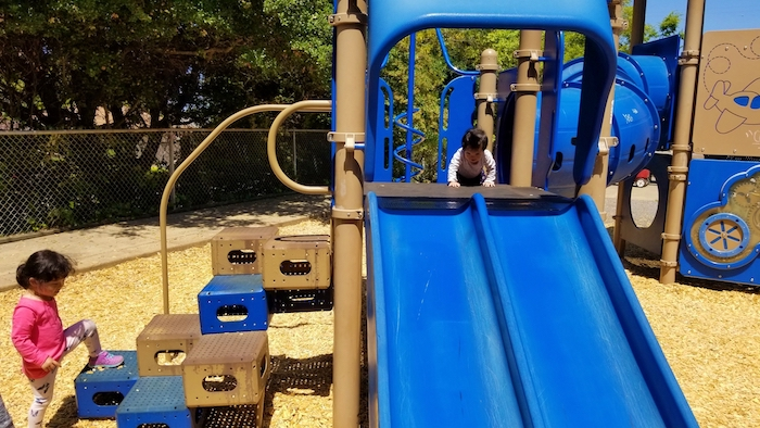 Castro Park in El Cerrito play structure