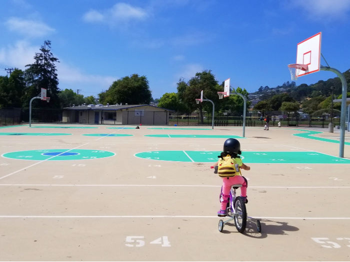 Korematsu middle school basketball courts are vast