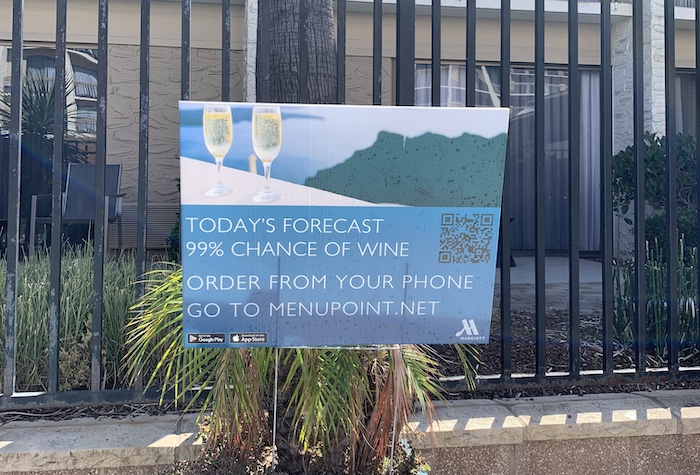 Chance of wine at Santa Clara Marriott is high