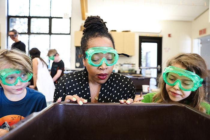 Nisa Frank demonstrates science