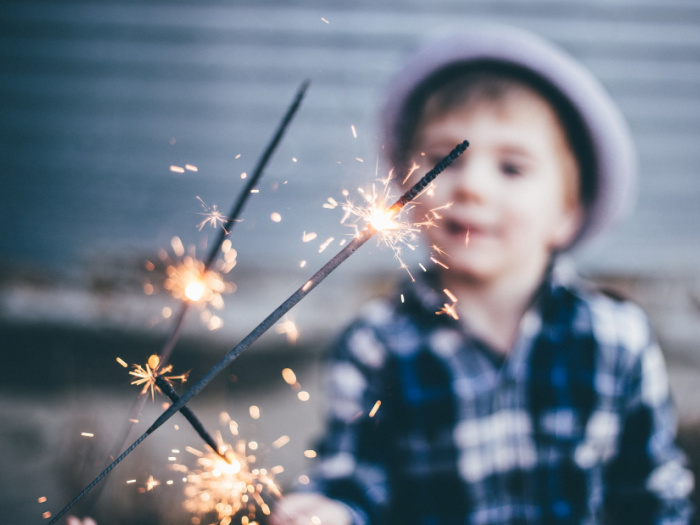 kid sparklers at home