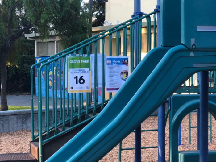 playground capacity sign berkeley