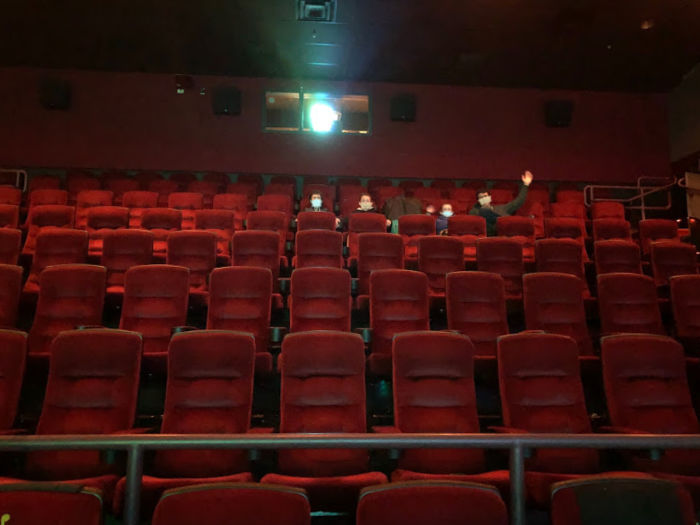 Having the movie theater to ourselves