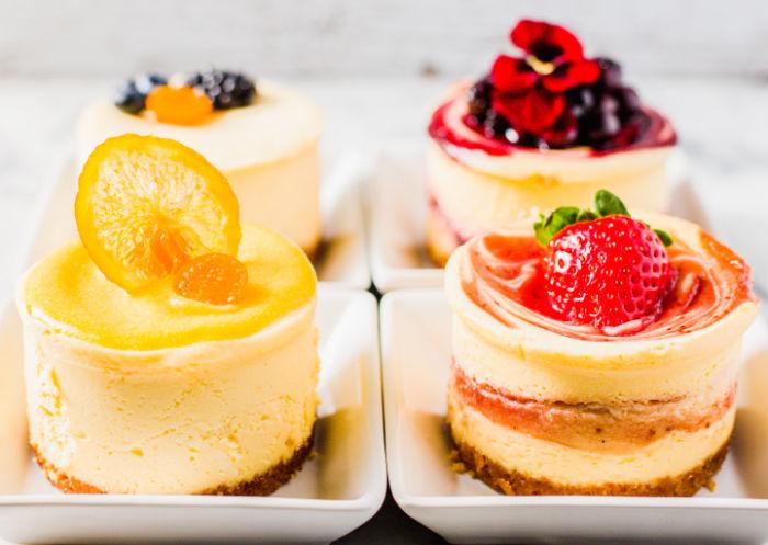 four cheesecakes