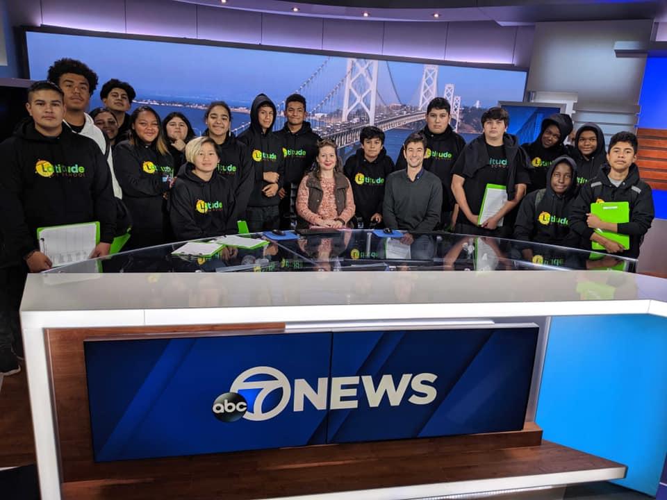 ninth graders visit ABC news