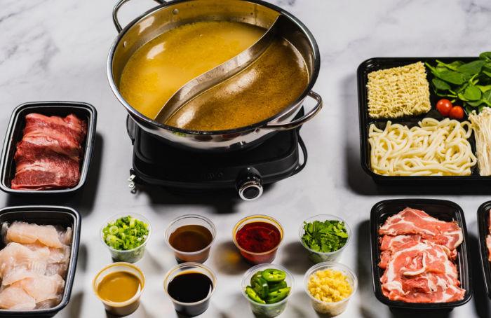 fiery hot pot spread