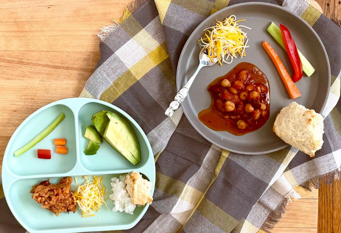 deconstructed meal for kids