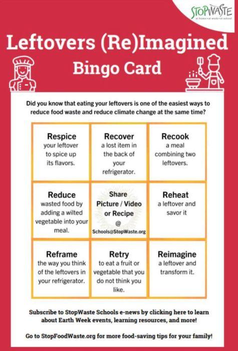 leftovers reimagined bingo