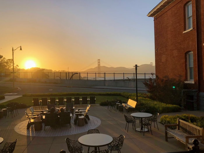 sunset from presidio lodge