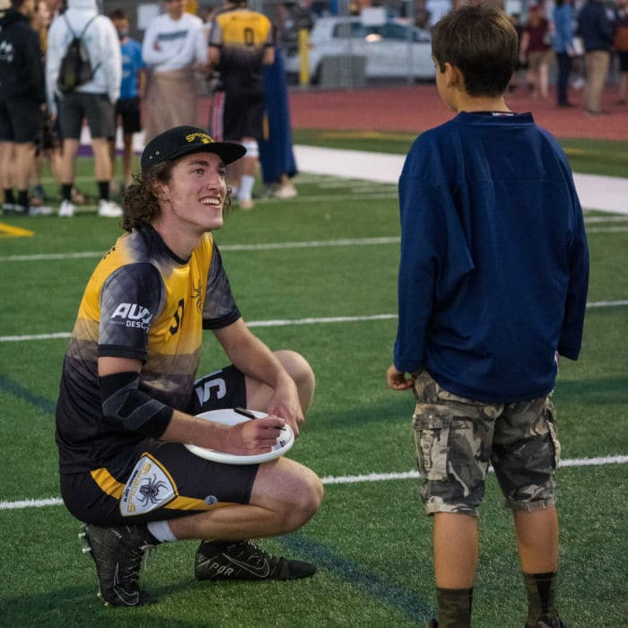 AUDL player and fan