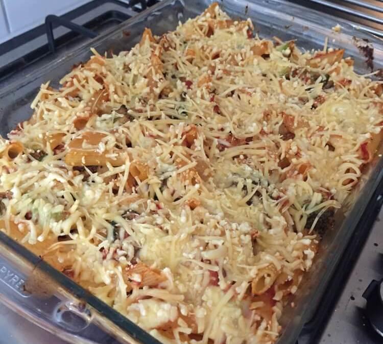 Vegetarische Pasta Uit De Oven Met Pit