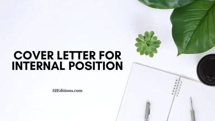 Cover Letter For Internal Position Sample Free Letter Templates