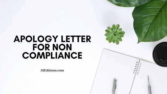 Sample Apology Letter For Non Compliance // FREE Letter Templates