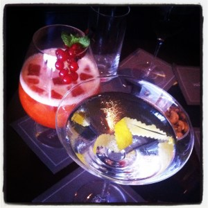 martini and fruit cocktails