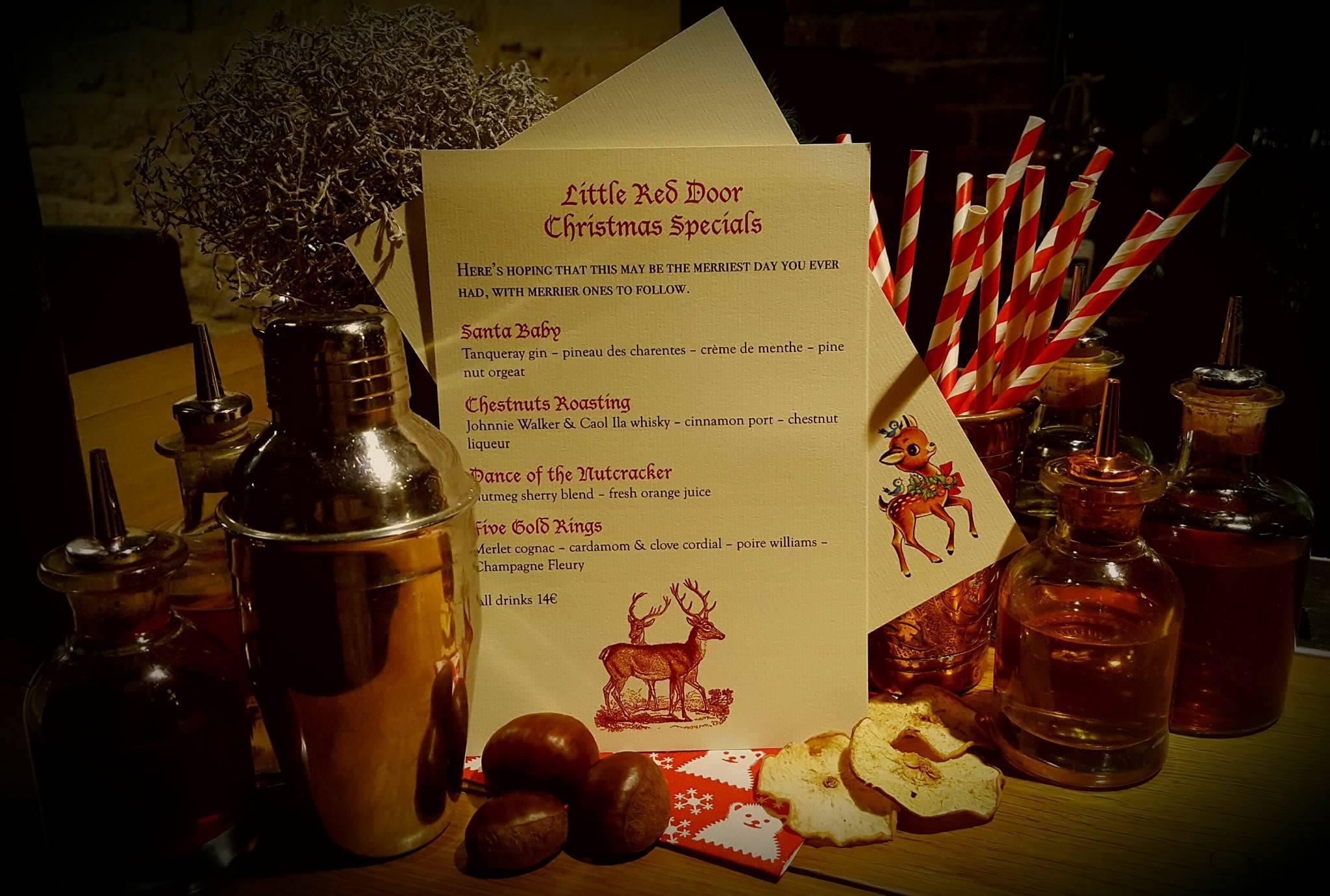 Little Red Door Christmas Specials 52 Martinis