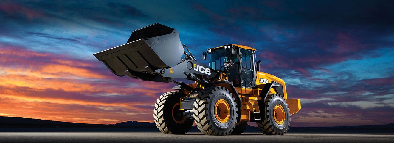 JCB Digger Sunset Background