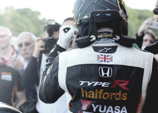 Yuasa sponsered rally driver