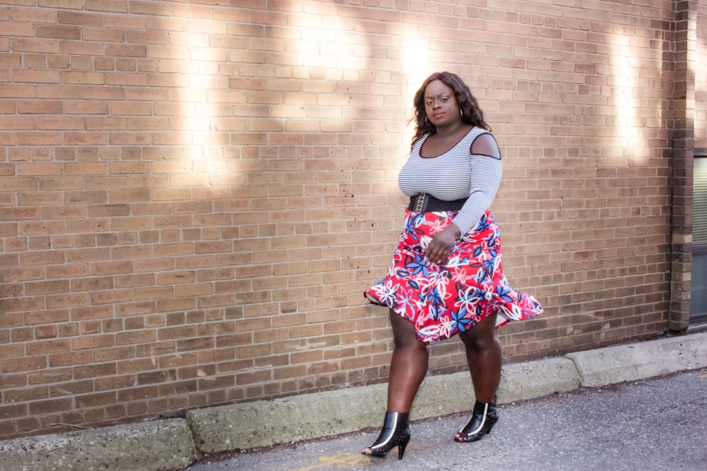 Patrice Rhone Cold Shoulder Outfit 7