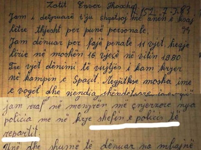 1983/Letra drejtuar Enver Hoxhës nga Qafë Bari: Ja si na rreh e torturon Edmond Caja në kampin e shfarosjes