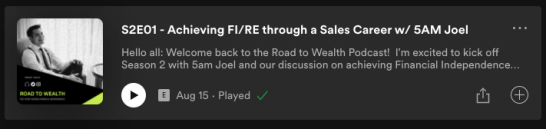 Road to Wealth Podcast