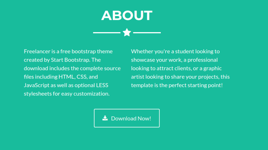 Bootstrap Freelancer About Section