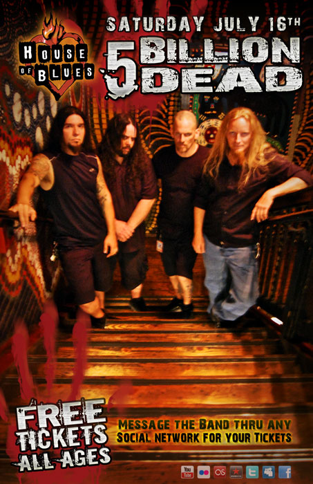 link to 5 billion dead at the house of blues orlando event listing on facebook
