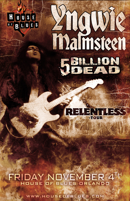 link to event with 5 billion dead and yngwie malmsteen at the house of blues