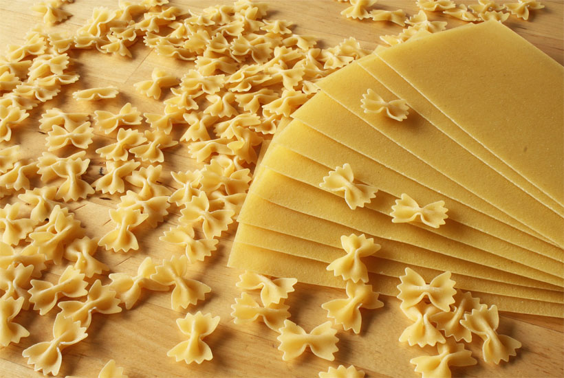 lasagna and bowtie noodles