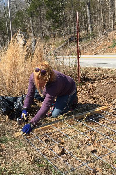 hammering fence staples 5 dog farm