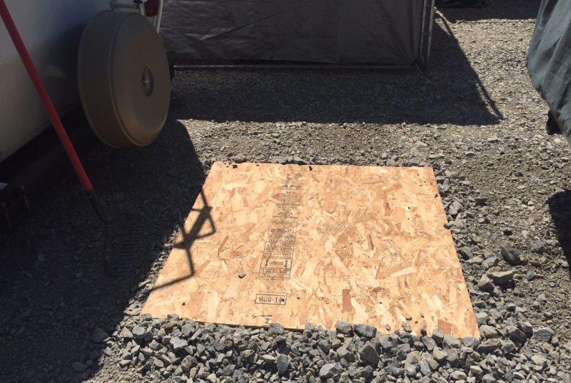 floor of camp shower 5 dog farm