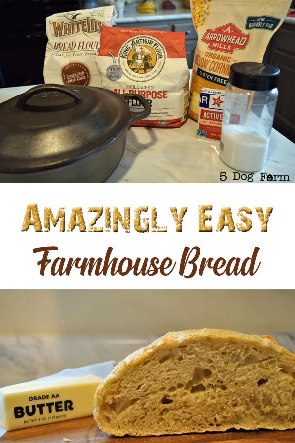 Amazingly Easy Farmhouse Bread