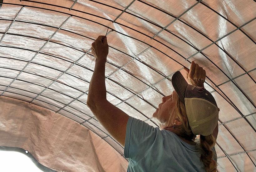 wire panels to straighten arch