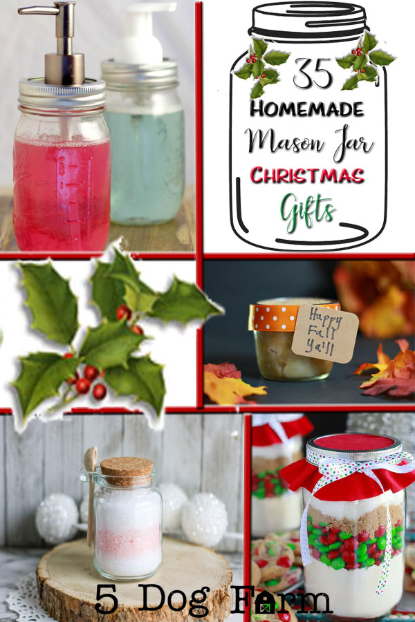 35 Homemade Mason Jar Christmas Gifts