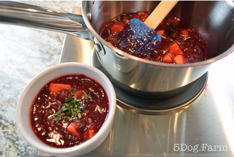 cranberry relish in a saucepan 5DogFarm