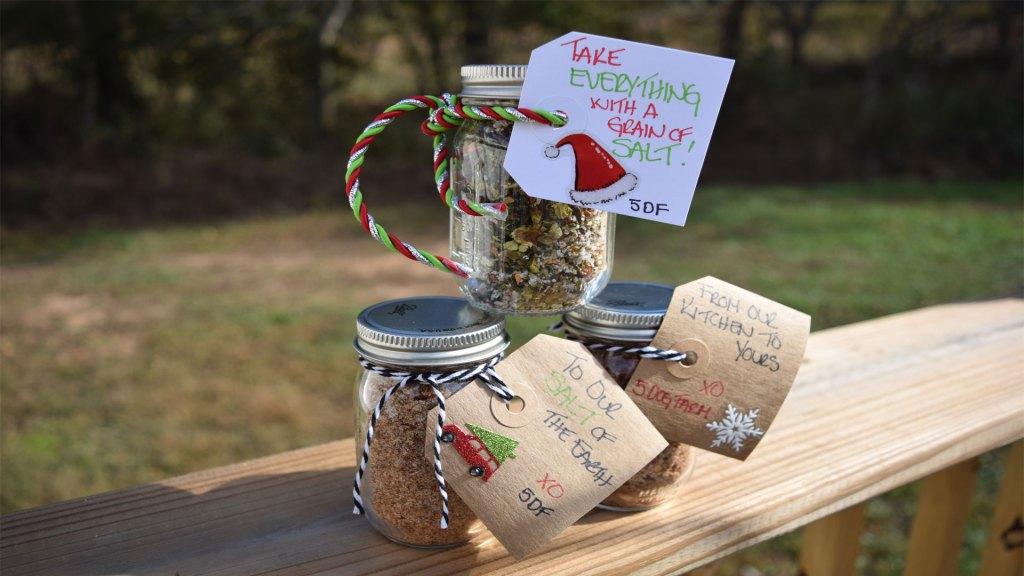 Homemade Gift Idea Flavored Salts 5Dog.Farm