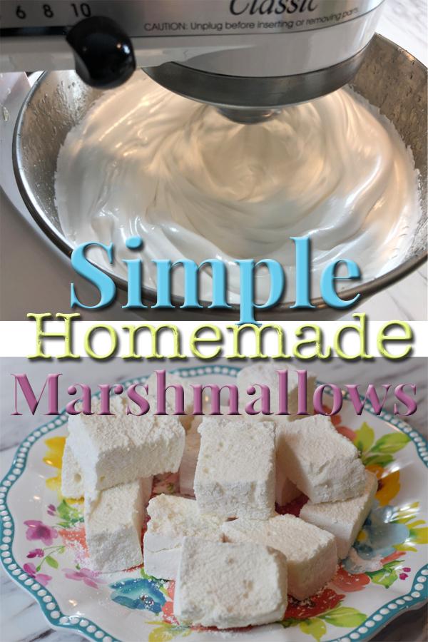 Simple Homemade Marshmallow Recipe by 5DogFarm